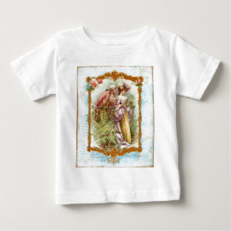 Romantic Couple French Regency Style Baby T-Shirt