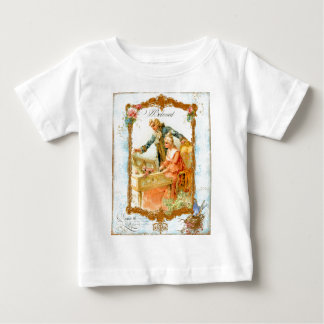 Romantic Couple French Vintage Style Baby T-Shirt