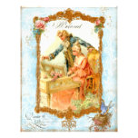 Romantic Couple French Vintage Style Personalized Flyer
