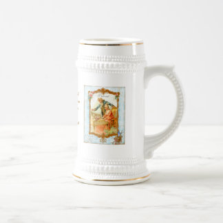 Romantic Couple French Vintage Style Stein 18 Oz Beer Stein