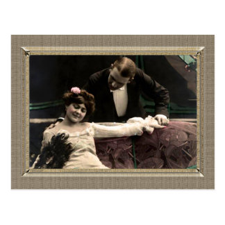 Romantic Couple - Gazing over her shoulder Post Cards