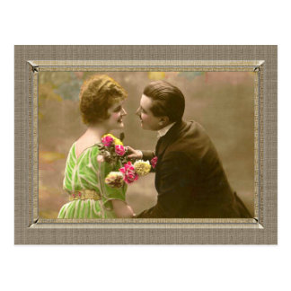 Romantic Couple - give me a kiss Post Cards