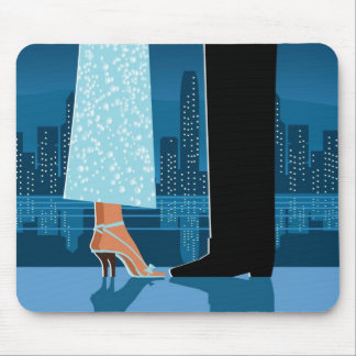 Romantic Couple in City Mouse Pad