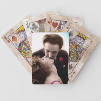 Romantic Couple Kissing Bicycle Playing Cards