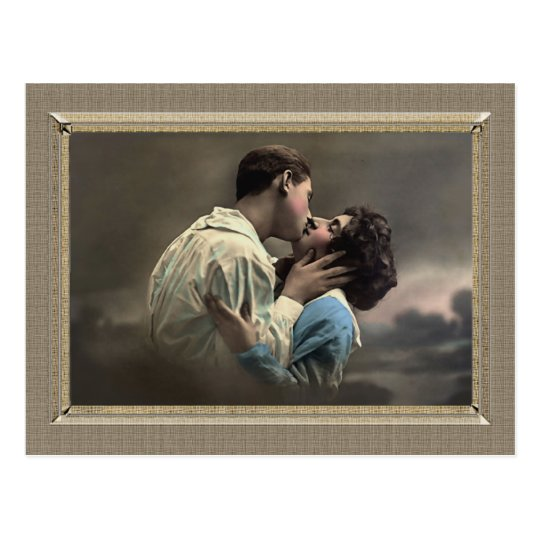 Romantic Couple - loving kiss Postcard