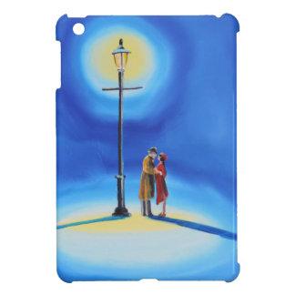 Romantic couple under a street lamp iPad mini cases