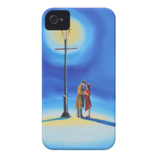 Romantic couple under a street lamp iPhone 4 cover