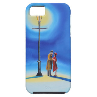 Romantic couple under a street lamp iPhone SE/5/5s case