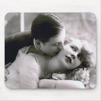 Romantic Couple Vintage Retro Photo Elegant Love Mouse Pad