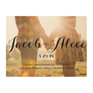 Romantic Couple Wood Marriage Anniversary Wedding Wood Wall Art