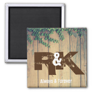 Romantic Couples Initials Close Together Magnet
