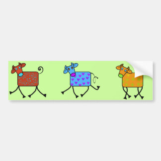 romantic cow bumper sticker
