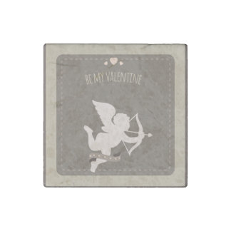 Romantic Cute Valentines Day cupid Stone Magnet