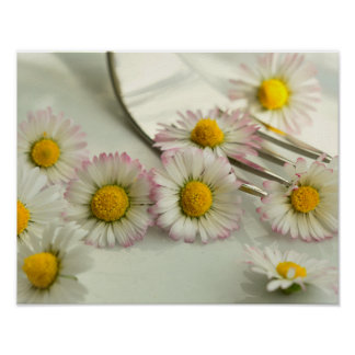 Romantic daisy color Flowers Thank You Poster