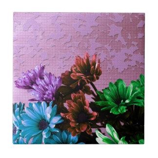 Romantic Daisy Flowers Ceramic Tile