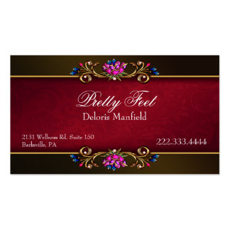 Romantic Damask and Gold Business Card