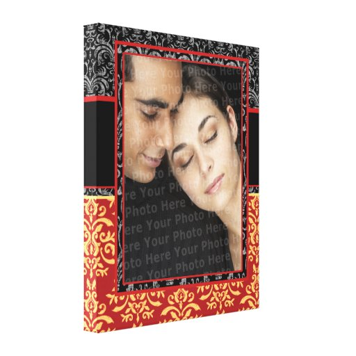 Romantic Damask for Wedding Portrait Ultra-Elegant Canvas Print