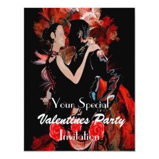 Romantic dancing couple card