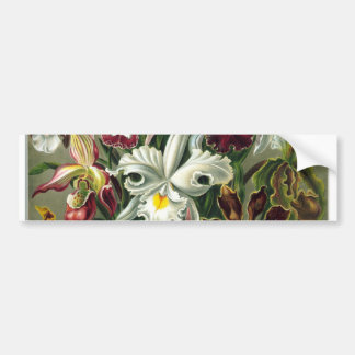 romantic date blossoms rsvp colorful chic car bumper sticker