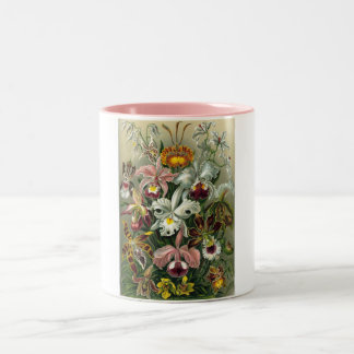 romantic date blossoms rsvp colorful chic Two-Tone coffee mug
