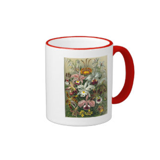 romantic date blossoms rsvp colorful chic ringer coffee mug
