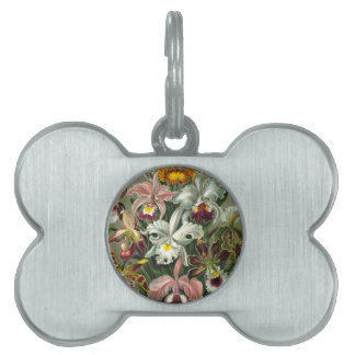 romantic date blossoms rsvp colorful chic pet ID tag