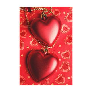 romantic  decoration . Hearts Canvas Print