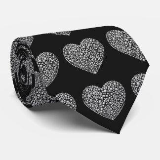 Romantic Diamond Love Hearts Tie