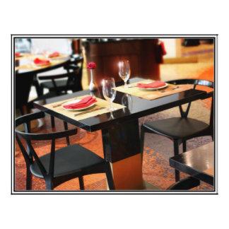 "Romantic Dinner for Two 8.5"" X 11"" Flyer"