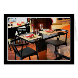 Romantic Dinner for Two Greeting Card