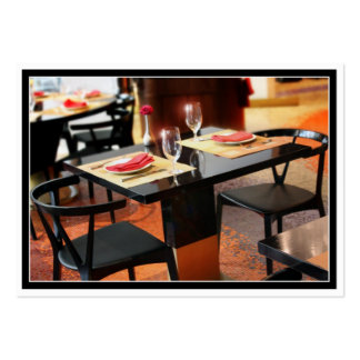 Romantic Dinner for Two Large Business Card