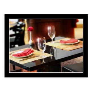 Romantic Dinner for Two Postcard