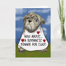 Romantic Dinner for Two Valentine's Card