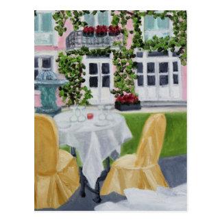 Romantic Dinner in France Postcard