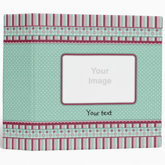 Romantic dots and flowers design binder