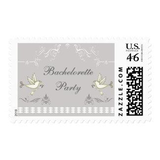 Romantic Doves Bachelorette Party Postage