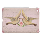 Romantic Doves in Love Vintage Collage iPad Mini Cover