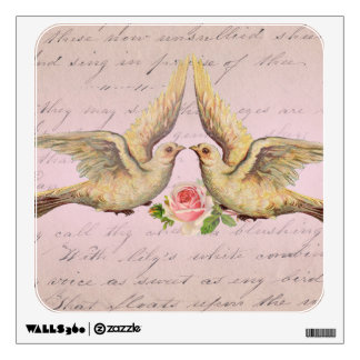 Romantic Doves in Love Vintage Collage Wall Decor