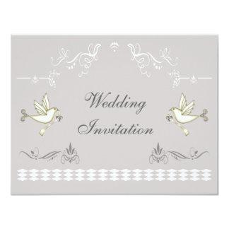 Romantic Doves Wedding Card