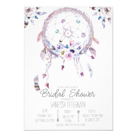 Romantic Dreamcatcher Boho Bridal Shower Invite