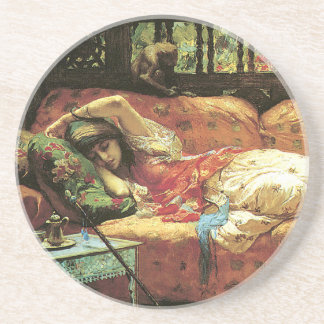 Romantic Dreaming Art Sandstone Drink Coaster