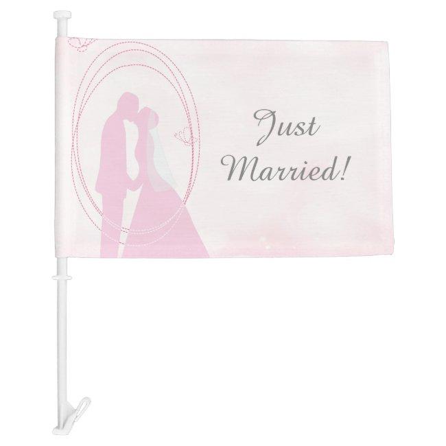 Romantic Dreamy Pink Wedding Couple