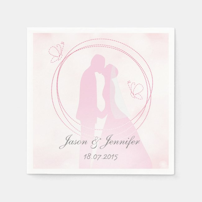 Romantic Dreamy Pink Wedding Couple