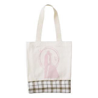 Romantic Dreamy Pink Wedding Couple Zazzle HEART Tote Bag