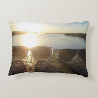 Romantic, dreamy view to the future decorative pillow