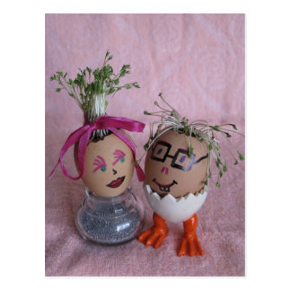 Romantic easter gifts on zazzle romantic easter eggmen couple eggs with hair serie postcard negle Choice Image