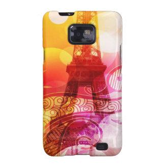 Romantic Eiffel Tower Galaxy SII Covers