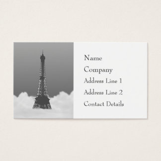 Romantic Eiffel Tower Floating In Cloud Business Card