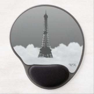 Romantic Eiffel Tower Floating In Cloud Gel Mouse Pad