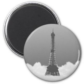 Romantic Eiffel Tower Floating In Cloud Magnet